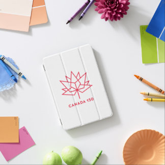 カナダ150の役人のロゴ-赤い輪郭 iPad MINIカバー