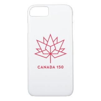 カナダ150の役人のロゴ-赤い輪郭 iPhone 8/7ケース