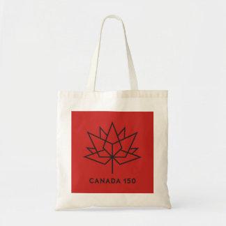 カナダ150の役人のロゴ-赤および黒 トートバッグ