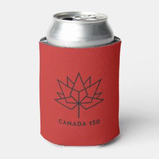 カナダ150の役人のロゴ-赤および黒 缶クーラー