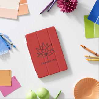 カナダ150の役人のロゴ-赤および黒 iPad MINIカバー