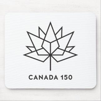 カナダ150の役人のロゴ-黒い輪郭 マウスパッド