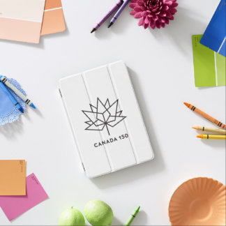 カナダ150の役人のロゴ-黒い輪郭 iPad MINIカバー