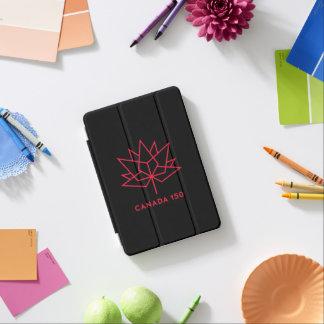 カナダ150の役人のロゴ-黒および赤 iPad MINIカバー