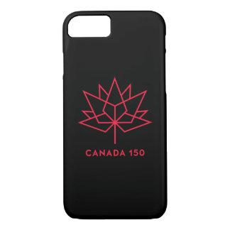 カナダ150の役人のロゴ-黒および赤 iPhone 8/7ケース