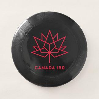 カナダ150の役人のロゴ-黒および赤 Wham-Oフリスビー