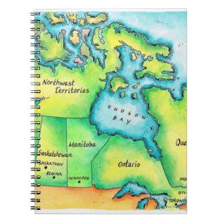 カナダ2の地図 ノートブック