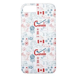 カナダ の記号パターン iPhone 7ケース