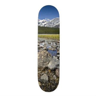 カナダ、アルバータのロッキー山脈、Banffの国民 スケボー
