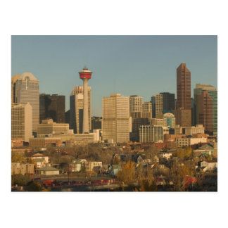 カナダ、アルバータ、カルガリー: 2からの都市スカイライン ポストカード