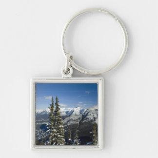 カナダ、アルバータ、Banff。 弓谷の眺め キーホルダー