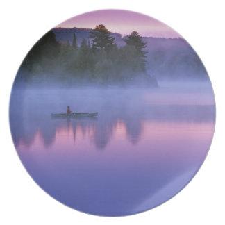カナダ、オンタリオのAlgonguin公園、Canoeist プレート
