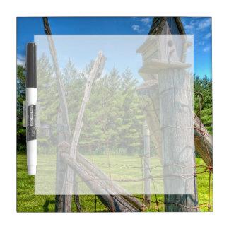 カナダ、オンタリオ、エリンの鳥の家 ホワイトボード