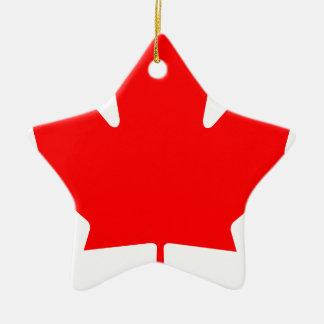 カナダ-カエデの葉 セラミックオーナメント