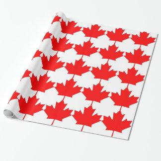 カナダ-カエデの葉 ラッピングペーパー