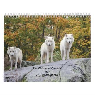 カナダ(カレンダー)のオオカミ カレンダー