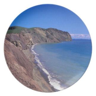 カナダ、ケベックのMagdalenの島は、2つを申し分なくおおいます プレート