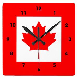 カナダ スクエア壁時計