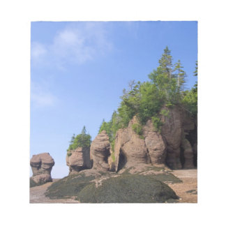 カナダ、ニューブランズウィックのHopewell岬、湾の ノートパッド
