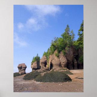 カナダ、ニューブランズウィックのHopewell岬、湾の ポスター