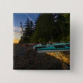 カナダ、ブリティッシュ・コロンビアのバンクーバー島、2 5.1CM 正方形バッジ