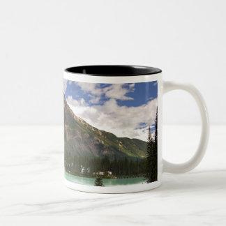 カナダ、ブリティッシュ・コロンビアのYohoの国立公園。 3 ツートーンマグカップ