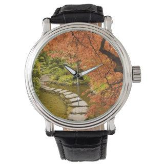 カナダ、ブリティッシュ・コロンビア、ビクトリア。 秋 腕時計