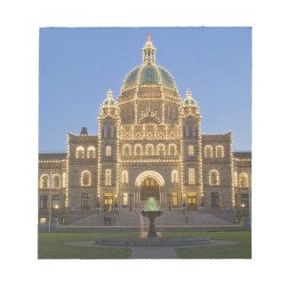 カナダ、紀元前に、ビクトリアの紀元前に立法府の建物の ノートパッド