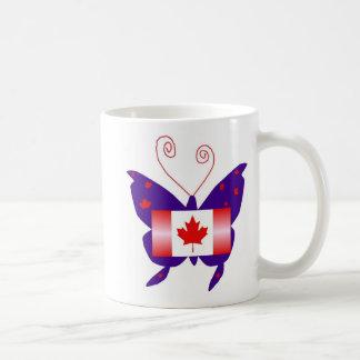 カナダ 花型女性歌手 蝶 ベーシックホワイトマグカップ