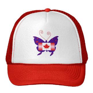 カナダ 花型女性歌手 蝶 メッシュキャップ