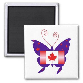 カナダ 花型女性歌手 蝶 冷蔵庫マグネット