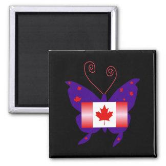カナダ 花型女性歌手 蝶 冷蔵庫用マグネット