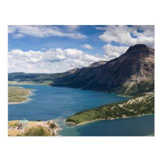 カナダ- Waterton湖の郵便はがき ポストカード