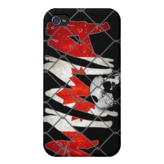 カナダMMAのスカルの黒のiphone 4ケース iPhone 4 カバー
