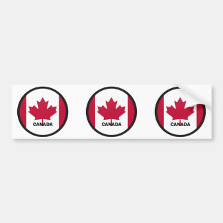 カナダRoundelの質の旗 バンパーステッカー