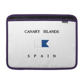 カナリア諸島のスペインのアルファ飛び込みの旗 MacBook スリーブ