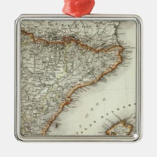 カナリア諸島の山そして川 メタルオーナメント
