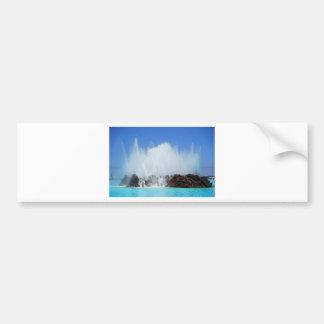 カナリア諸島の石に当る水 バンパーステッカー