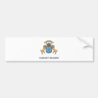 カナリア諸島の高品質な紋章付き外衣 バンパーステッカー