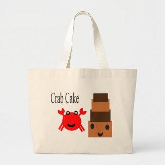 カニおよびケーキ ラージトートバッグ
