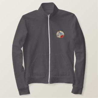カニが付いている灯台 刺繍入りジャケット