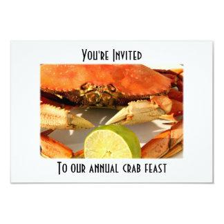 カニの沸騰饗宴の招待状 カード