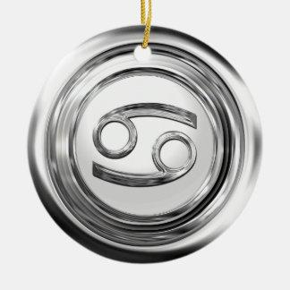 カニ-蟹座の(占星術の)十二宮図の印 セラミックオーナメント
