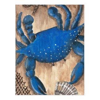 カニ、貝および網 ポストカード