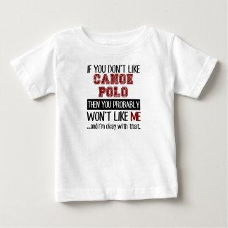 カヌーのポロのカッコいいを好まなければ ベビーTシャツ