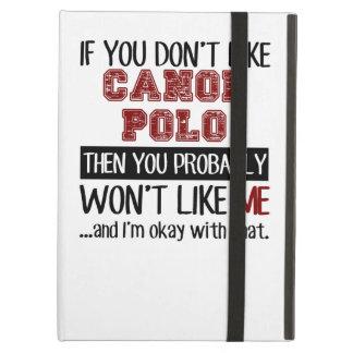 カヌーのポロのカッコいいを好まなければ iPad AIRケース
