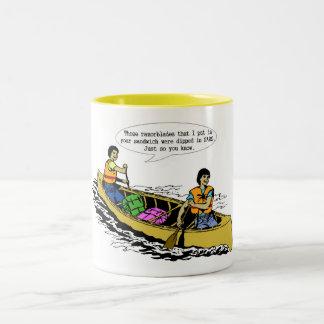 カヌーの会話のマグ ツートーンマグカップ