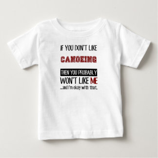 カヌーをこぐカッコいいを好まなければ ベビーTシャツ