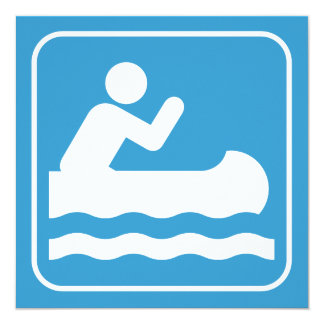 カヌーをこぐ記号の招待状 カード