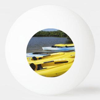 カヌー旅行 卓球ボール